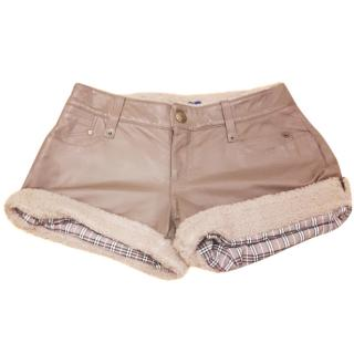 Burberry London Sheepskin Lined Shorts Size 42.