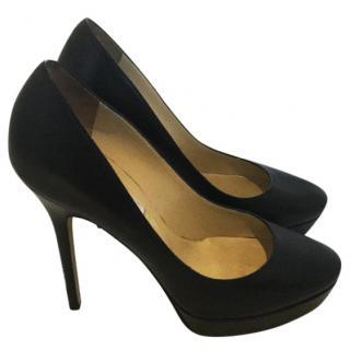 Jimmy Choo black Kid leather heels