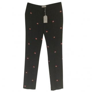 Mulberry lucky leaf jacquard Trousers