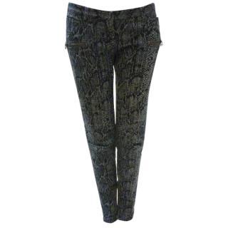 Balmain snakeskin skinny jeans