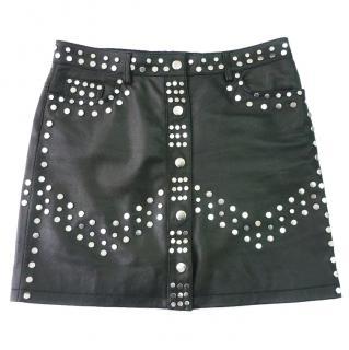 The Kooples leather studded mini skirt