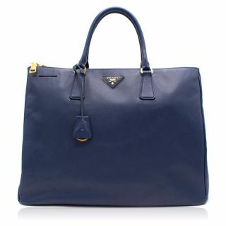 Prada Galleria Blue Leather Bag