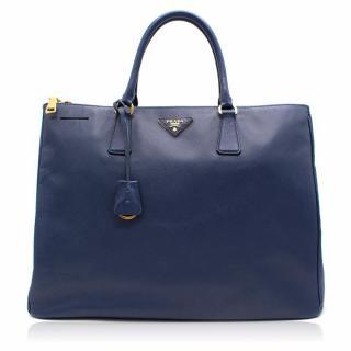 Prada Galleria Blue Leather Bag