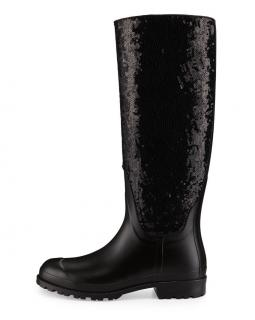 Saint Laurent Sequin Rain Boots
