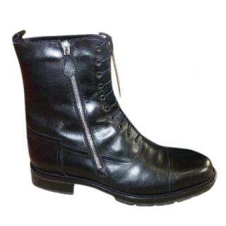 Hermes Black Sheepskin Lined Snow Boots