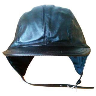Prada Aviator Leather Hat.