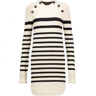 Isabel Marant Haeza stripped merino /wool mini sweater dress