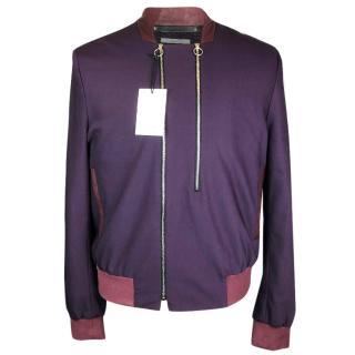 Paul Smith Mainline Wool Silk Leather Bomber Jacket