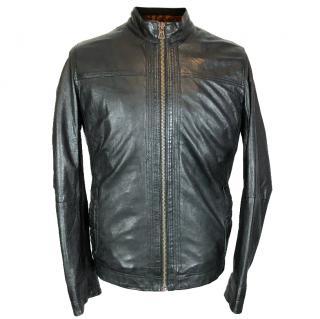 Hugo Boss Biker Leather Jacket
