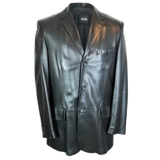 Hugo Boss Seven Leather Blazer Jacket