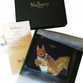 Mulberry squirrel part zip coin pouch
