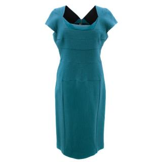 Roland Mouret Green Wool Dress