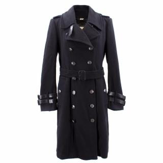 Burberry Long Cashmere Blend Trench Coat