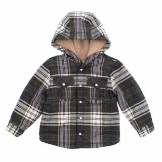 Gucci Kids Green Checked Coat