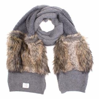 Stella McCartney Wool and Faux Fur Scarf