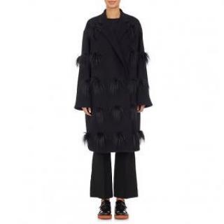 Stella McCartney Black Pom Pom Coat