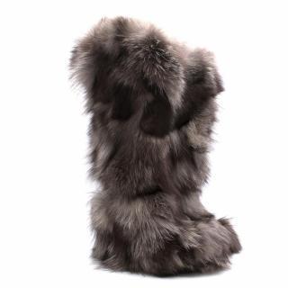 Louis Vuitton Long Heeled Fur Boots