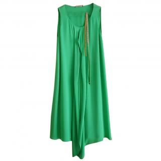 Strenesse green silk dress