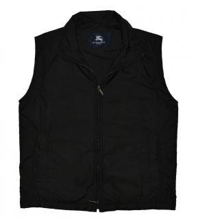Burberry Men's Black Full Zip Vest Gilet