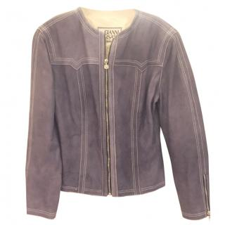 Gianni Versace Grey Soft Leather Jacket