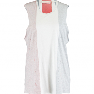 Sass & Bide Grey Faded Union Jack Tank Top Size S (UK 10).