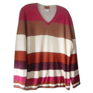 Missoni Striped Cashmere Silk Jumper