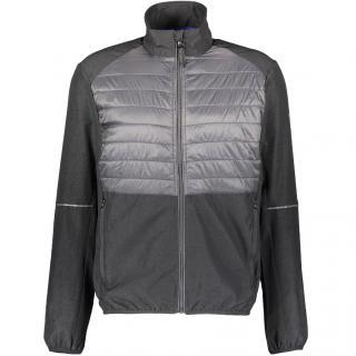 MICHAEL KORS Charcoal & Grey Padded Zip Jacke. Size: M.