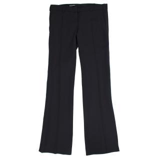 Balmain Black Wool Trousers