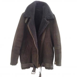 822decdcf7e90 AQUASCUTUM shearling leather coat