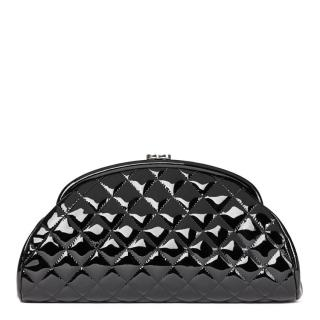 Chanel Black Patent Leather Timeless Clutch
