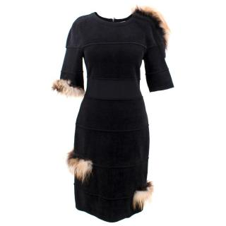 Fendi Black Dress with fox details