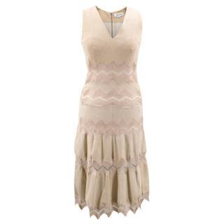 Jitrois Beige Suede Dress