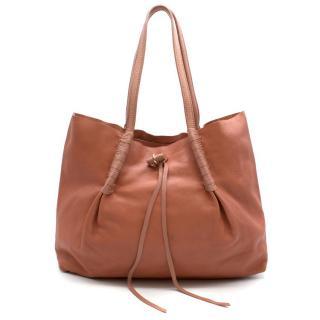 Nina Ricci Pink Leather Tote Bag