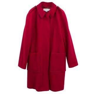 See by Chloe Red Wool Coat