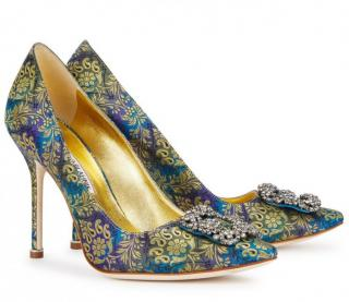 Manolo Blahnik jacquard Hangisi Manolo Shoes