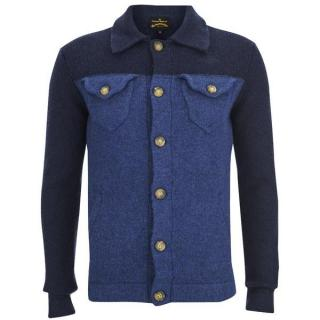 VIVIENNE WESTWOOD Anglomania blue knitted wool cardigan