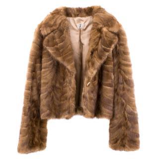 Harrods T Italia Brown Fur Jacket