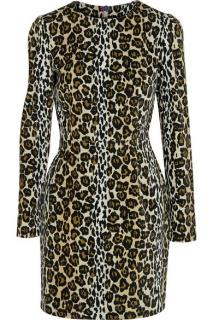 House of Holland velvet leopard dress