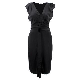 Prada Black Ruffled Dress