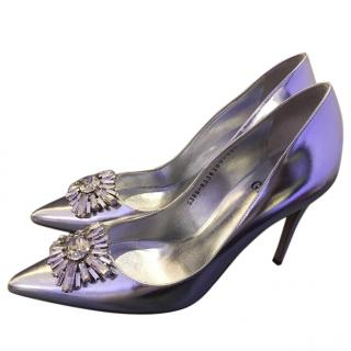 Gina Silver Embellished Pumps