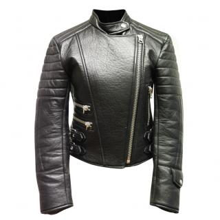 Acne studio moi leather biker jacket