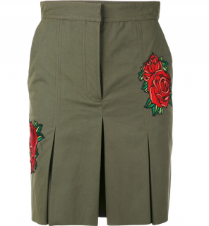 EACH x OTHER Rose Embroidered Khaki Shorts Size L