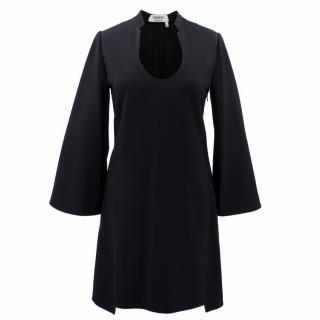 Saint Laurent  Black Flared Sleeve Dress