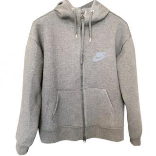 Sacai x Nike Grey Top With Lace Layer