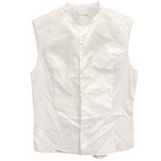 Alexander Mcqueen Sleeveless White Top