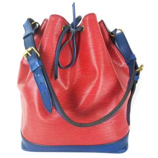 Louis Vuitton NOE M44084 EPI Bicolor Red Blue Shoulder Bag 10808 92f908457ed06