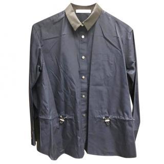 Sacai Navy Open Back Shirt