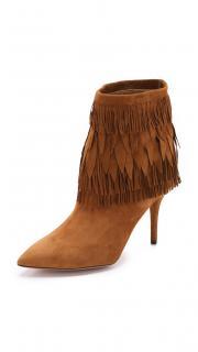 Aquazzura suede fringe ankle boots