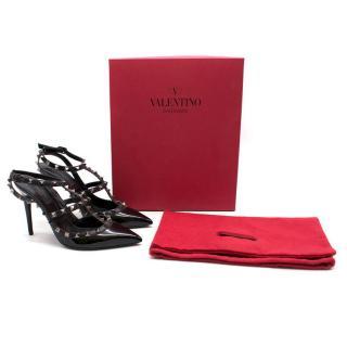 Valentino Black Patent Leather Rockstud Pumps