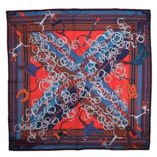 Hermes Silk Racing Scarf